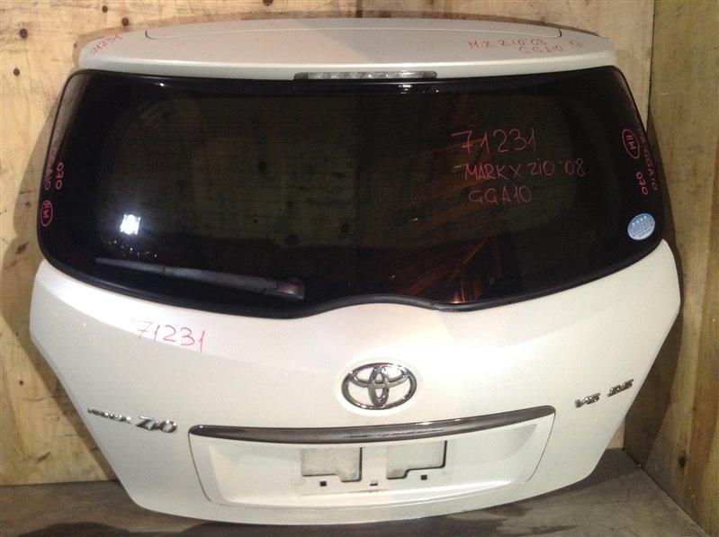 Дверь багажника Toyota Mark X Zio ANA10 2008 задняя 71231 (+14.05.20) С камерой заднего вида. Цвет - (б/у)