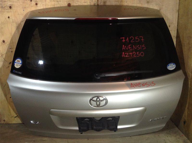 Дверь багажника Toyota Avensis AZT250 задняя 71257 (+14.05.20) Потертость (см. фото). Цвет - 1C0. (б/у)