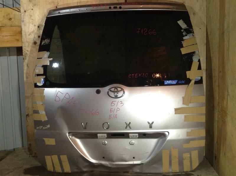 Дверь багажника Toyota Voxy AZR60 задняя 71266 (+14.05.20) Дефект (см. фото). Снят замок, ручка. (б/у)