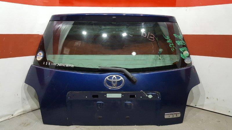 Дверь багажника Toyota Ist NCP60 2NZ Снят замок, обшивка, накладка двери, плафоны (б/у)