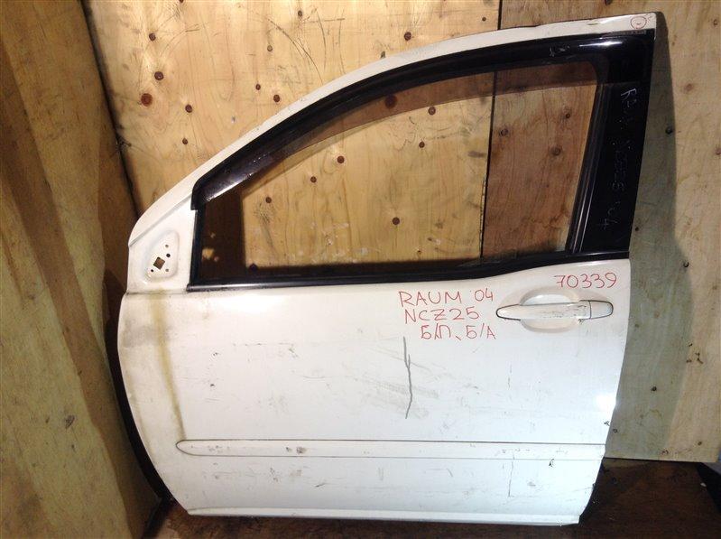 Дверь боковая Toyota Raum NCA25 2004 передняя левая 70339 (+19.05.20) Потертости, вмятины (см. фото).  (б/у)