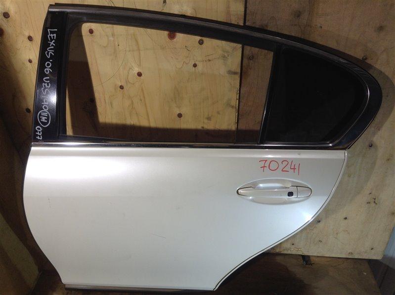 Дверь боковая Lexus Gs300 UZJ190 3UZ 2006 задняя левая 70241 (+20.05.20) 6В.[T] (б/у)