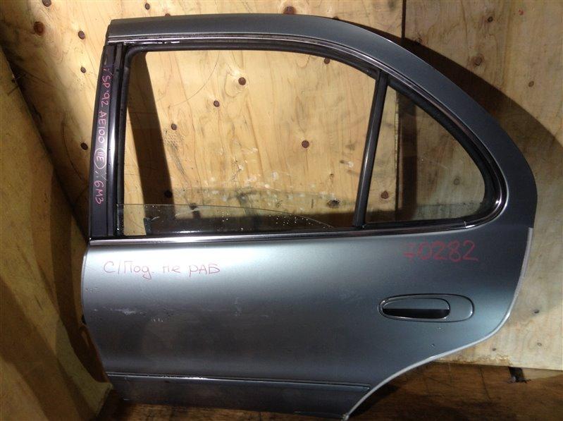 Дверь боковая Toyota Sprinter AE100 1992 задняя левая 70282 (+20.05.20) Стеклоподъемник не работает.  (б/у)