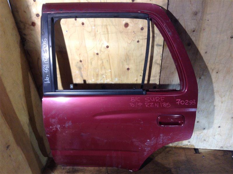 Дверь боковая Toyota Hilux Surf RZN185 5VZ 1997 задняя левая 70293 (+20.05.20) Снято стекло, форточка. 4В. (б/у)