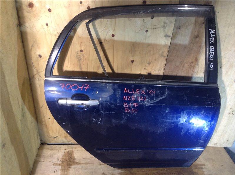 Дверь боковая Toyota Allex NZE121 2001 задняя правая 70017 (+20.05.20) Снято стекло, форточка. 9В.[T] (б/у)