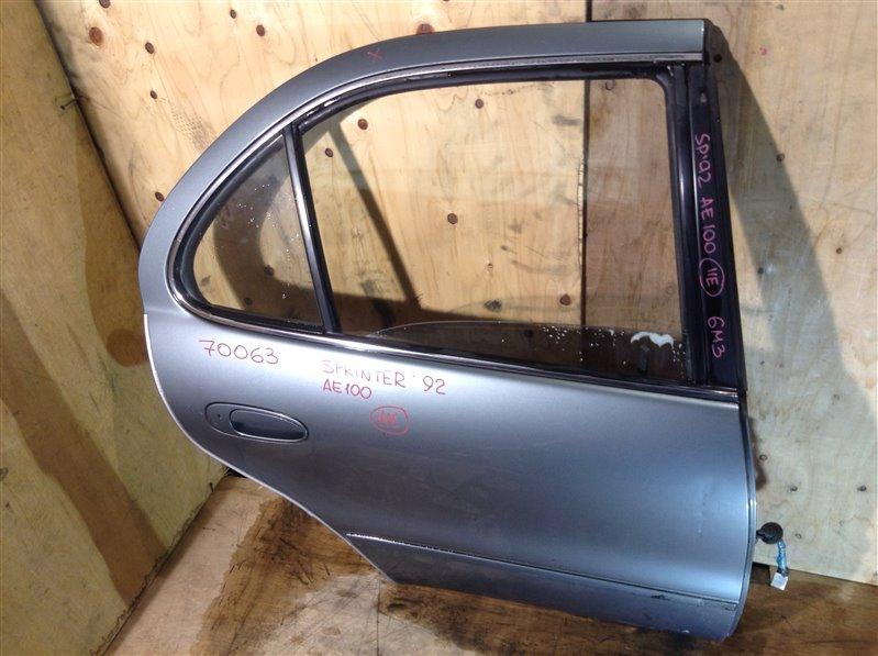 Дверь боковая Toyota Sprinter AE100 1992 задняя правая 70063 (+20.05.20) 10В.[T] (б/у)