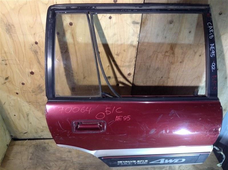 Дверь боковая Toyota Sprinter Carib AE95 1992 задняя правая 70064 (+20.05.20) Снято стекло. Вмятины (см.  (б/у)