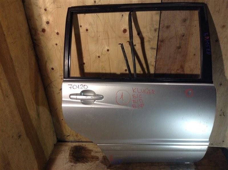 Дверь боковая Toyota Kluger MCU25 2AZ задняя правая 70120 (+20.05.20) Снят стеклоподъемник, стекло,  (б/у)