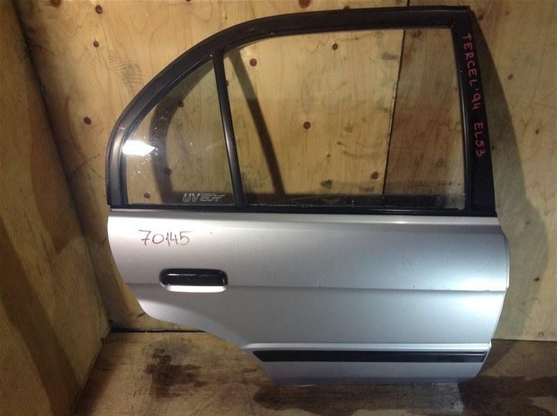 Дверь боковая Toyota Tercel EL51 1994 задняя правая 70145 (+20.05.20) 7В.[T] (б/у)