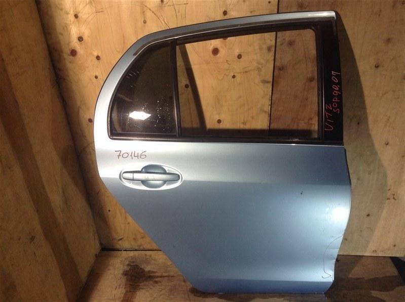 Дверь боковая Toyota Vitz NCP95 2007 задняя правая 70146 (+20.05.20) Вмятины (см. фото). 7В.[T] (б/у)