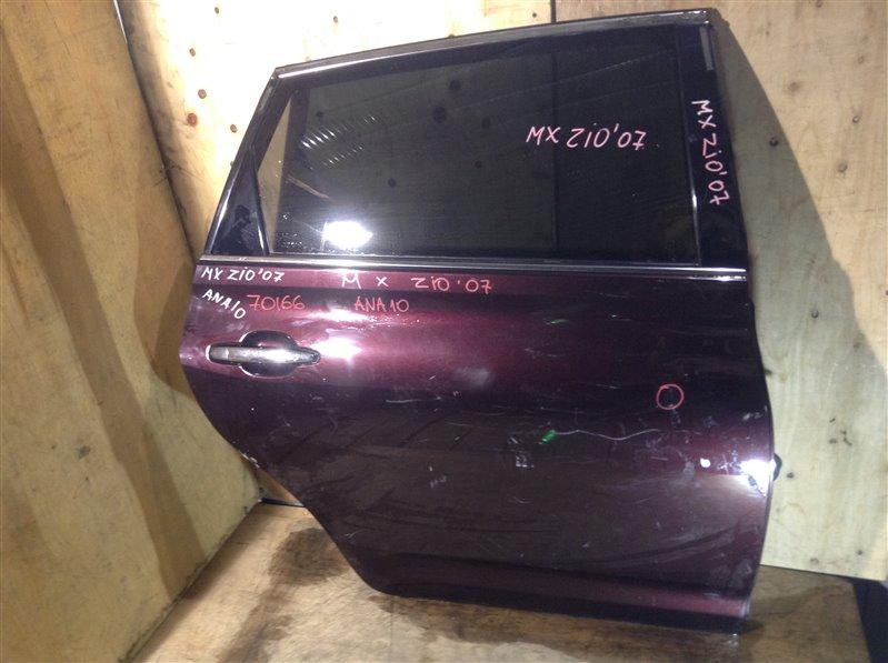 Дверь боковая Toyota Mark X Zio ANA10 2007 задняя правая 70166 (+20.05.20) Царапины, потертости (см. (б/у)