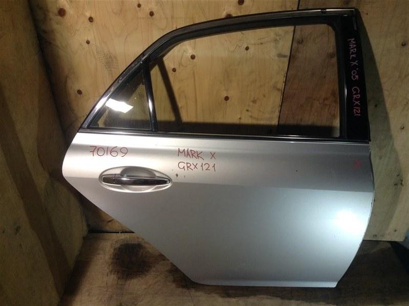 Дверь боковая Toyota Mark X GRX120 2005 задняя правая 70169 (+20.05.20) 8В.[T] (б/у)