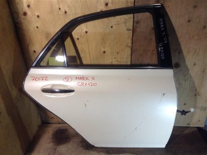 Дверь боковая Toyota Mark X GRX120 2009 задняя правая 70172 (+20.05.20) 8В.[T] (б/у)