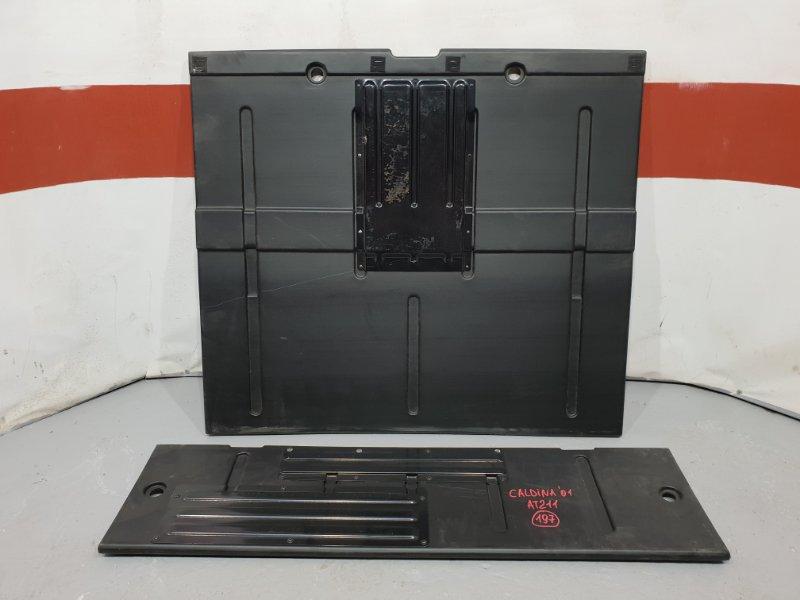 Панель пола багажника Toyota Caldina AT211 7A 2001 задний Продается в той комплектности как  (б/у)