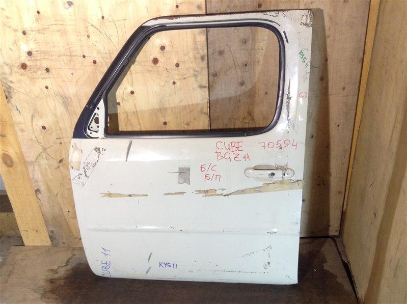 Дверь боковая Nissan Cube BZ11 передняя левая 70594 (+27.04.20) Снят стеклоподъемник, стекло. (б/у)