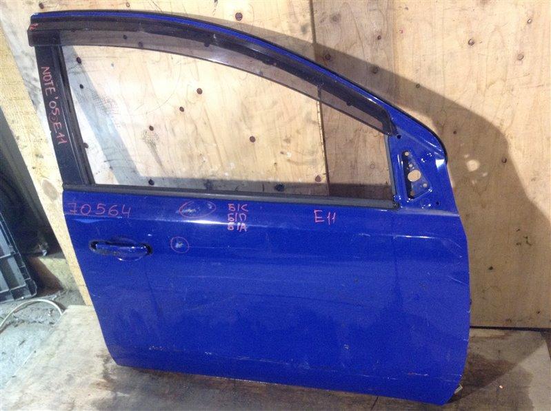 Дверь боковая Nissan Note E11 2005 передняя правая 70564 (+27.04.20) Снят замок, личинка, стекло. (б/у)
