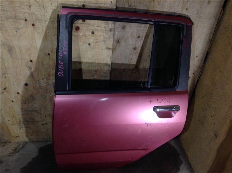 Дверь боковая Nissan Cube AZ10 2001 задняя левая 71031 (+28.04.20) Небольшие вмятины, потертости (б/у)