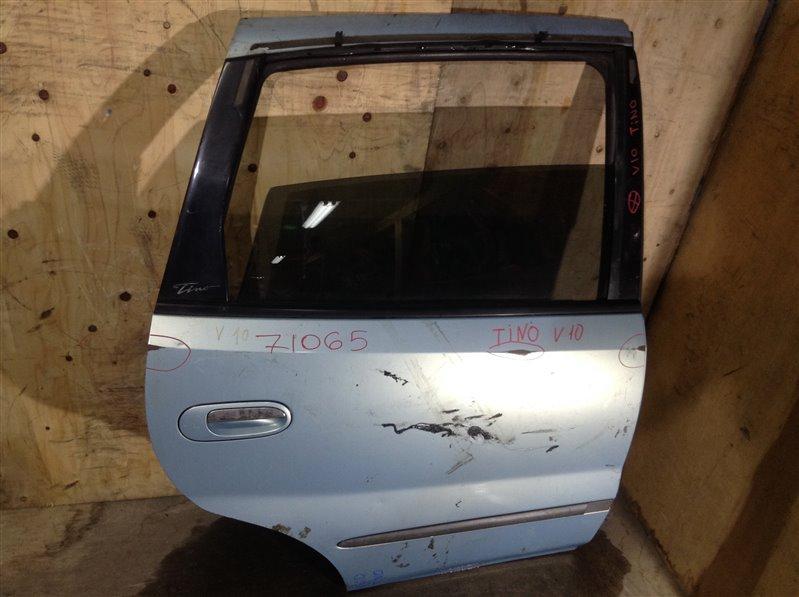 Дверь боковая Nissan Tino V10 QG18DE 1999 задняя правая 71065 (+28.04.20) Есть потертости (см. фото). (б/у)