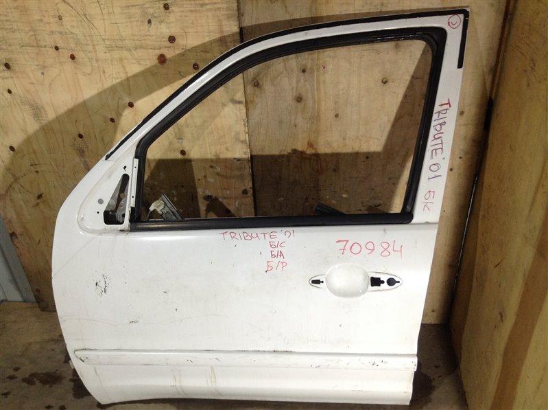 Дверь боковая Mazda Tribute EPEW 2001 передняя левая 70984 (+28.04.20) Снят замок, стекло, ручка. 21В (б/у)