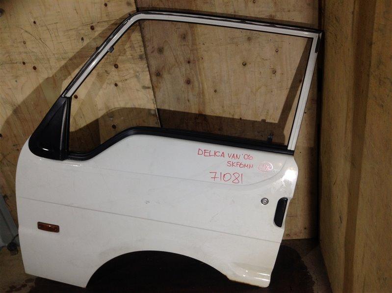Дверь боковая Mitsubishi Delica SKE6VM RF 2006 передняя левая 71081 (+28.04.20) Есть ржавчина (см. фото). (б/у)