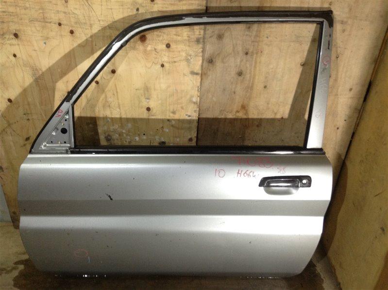 Дверь боковая Mitsubishi Pajero Io H61W 1998 передняя левая 71083 (+28.04.20) 27В. Для трехдверной (б/у)
