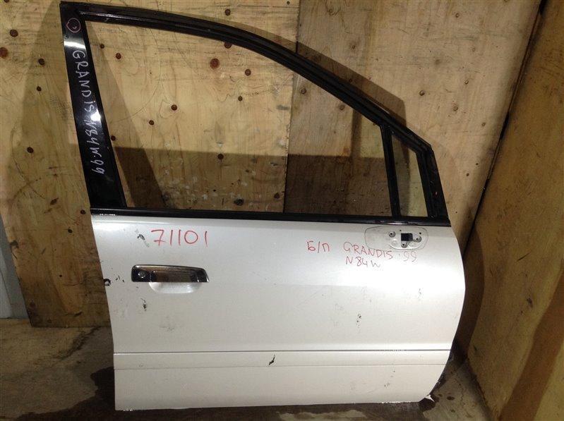 Дверь боковая Mitsubishi Chariot Grandis N84W 1999 передняя левая 71101 (+28.04.20) Снят стеклоподъемник. (б/у)