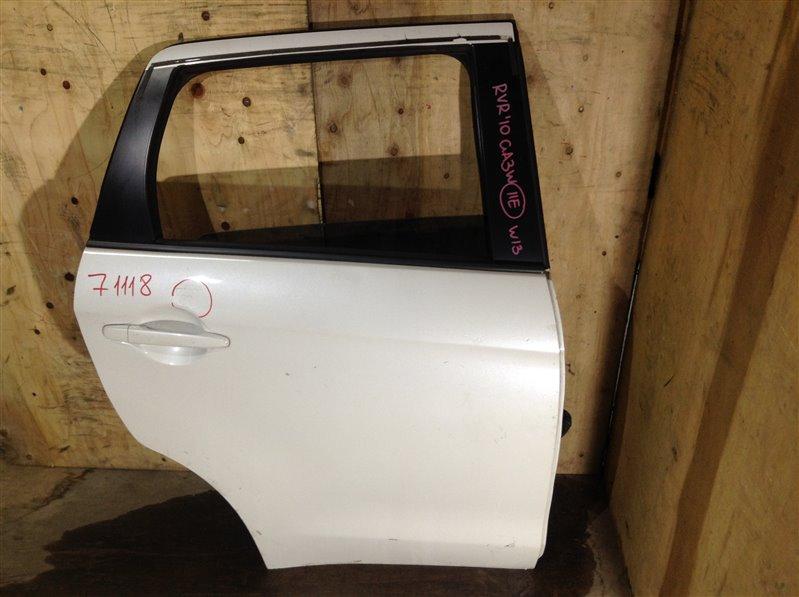 Дверь боковая Mitsubishi Rvr GA3W 4B10 2010 задняя правая 71118 (+28.04.20) Небольшая вмятина (см. (б/у)