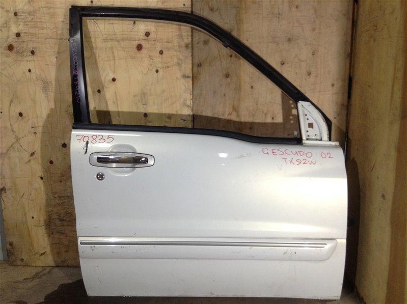 Дверь боковая Suzuki Grand Escudo TX92W 2002 передняя правая 70835 (+29.04.20) 11В (б/у)