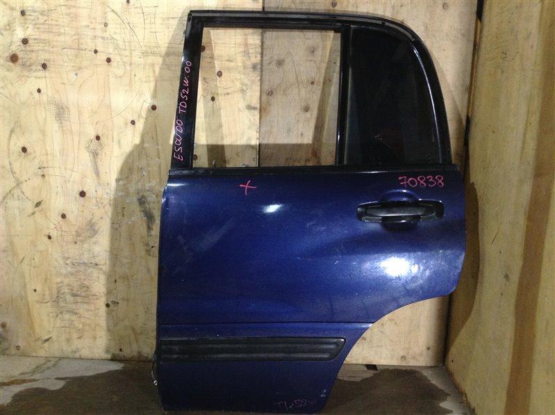 Дверь боковая Suzuki Escudo TD02W J20A 2000 задняя левая 70838 (+29.04.20) Синяя. (б/у)
