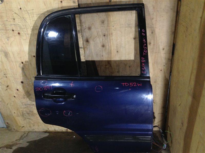 Дверь боковая Suzuki Escudo TD51W 2000 задняя правая 70841 (+29.04.20) Небольшие вмятины (см. фото). (б/у)