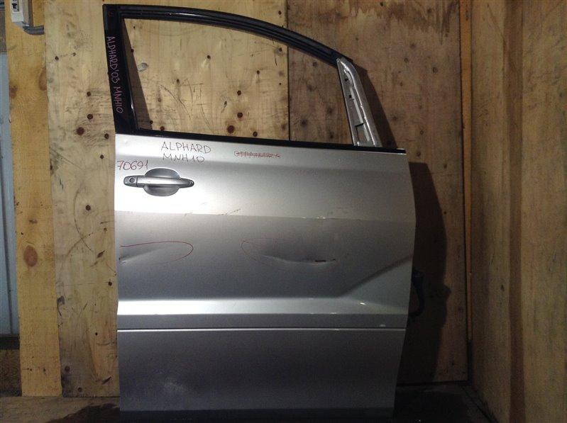Дверь боковая Toyota Alphard MNH10 2003 передняя правая 70691 (+27.04.20) Подмята (см. фото). 6А Цена (б/у)