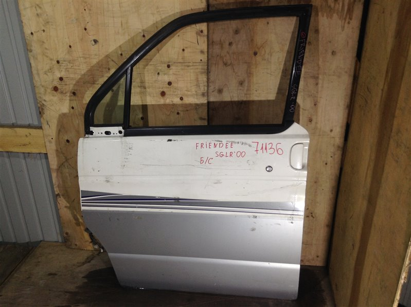 Дверь боковая Mazda Bongo Friendee SG5W 2000 передняя левая 71136 (+29.04.20) Снято стекло. 30В (б/у)