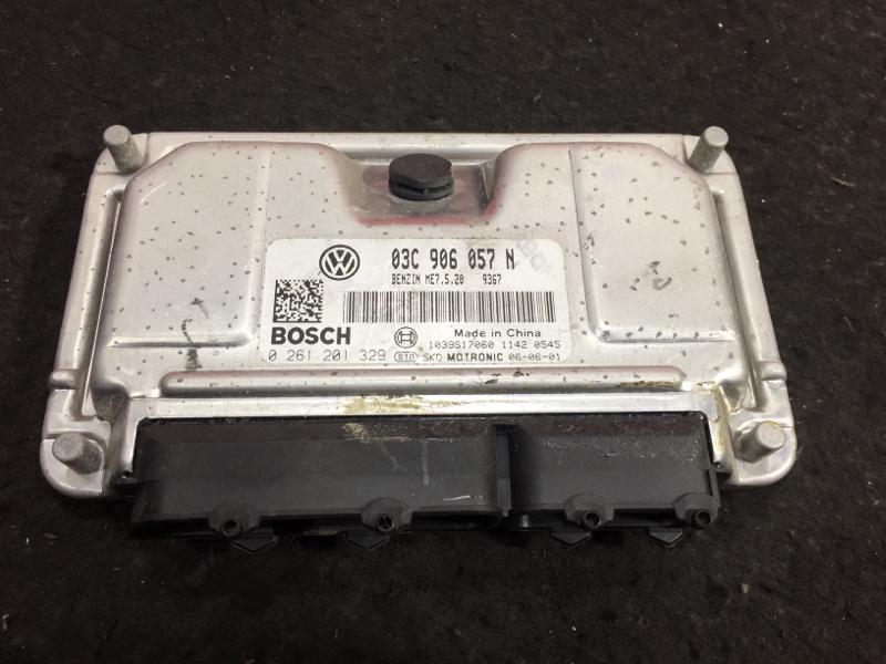 Блок управления двс Volkswagen Polo 9N3 BTS 2007 03C906057N 11 ящик (б/у)