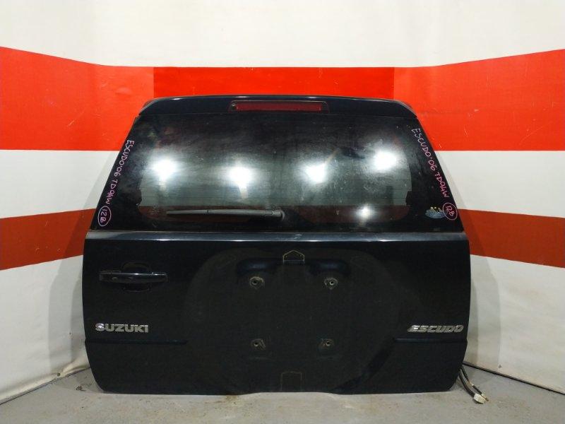 Дверь багажника Suzuki Escudo TD94W 2006 Есть небольшая вмятина см.фото. (б/у)