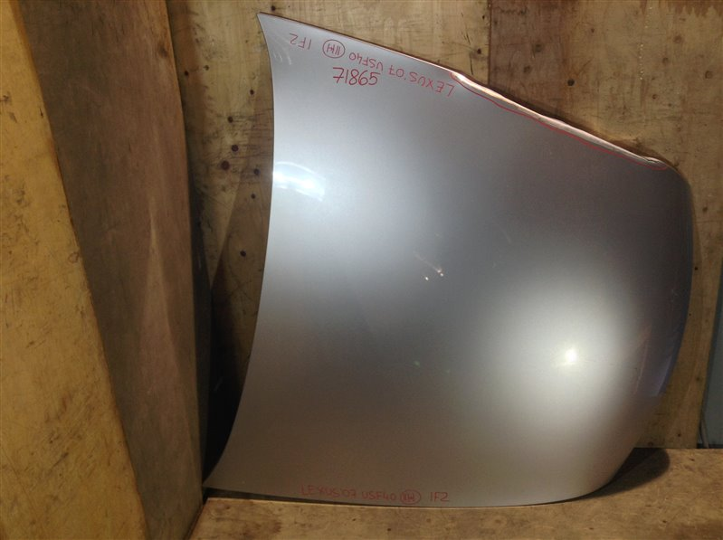 Капот Lexus Ls460 USF40 1UR 2007 71865 (+26.05.20) Подмято ребро (см. фото). (б/у)