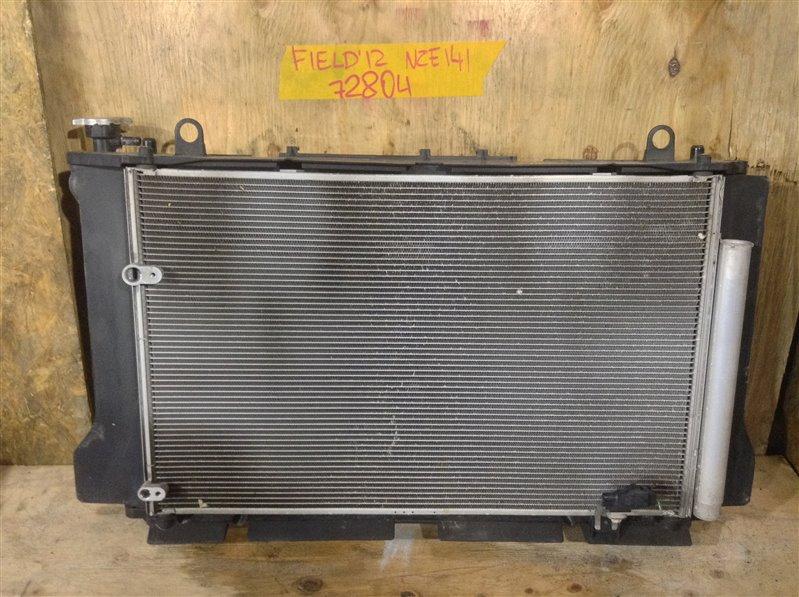 Радиатор кондиционера Toyota Corolla Fielder NZE141 1NZ 2012 72804 Основной радиатор охлаждения  (б/у)