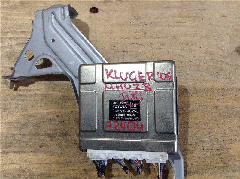 Блок электронный Toyota Kluger MHU28 3MZ 2005 72404, 89221-48250, 244000-0640 (б/у)