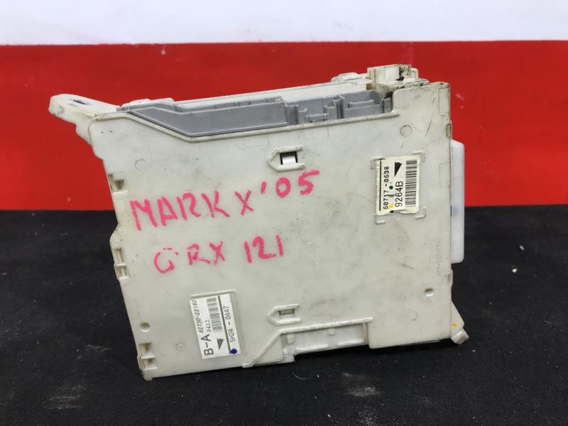 Блок предохранителей салонный Toyota Mark X GRX121 2005 5H24-0447, 50717-0538, 82672-22350. 28 ящик. (б/у)