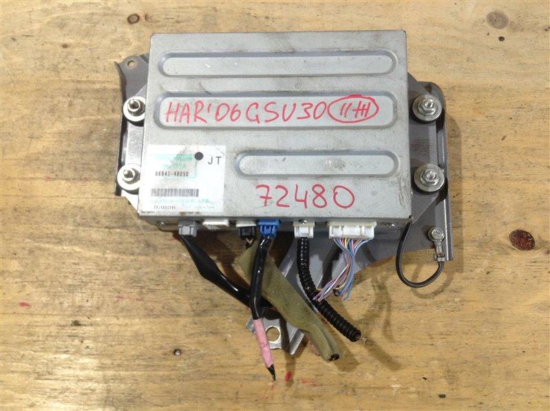 Блок управления навигацией Toyota Harrier GSU30 2GR 2006 72480, 86841-48050, EKJA002996 (б/у)
