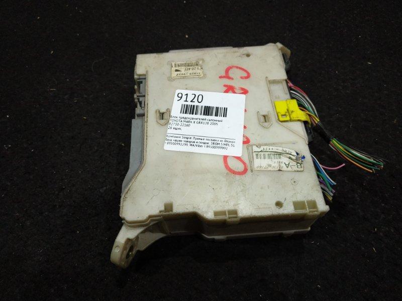 Блок предохранителей салонный Toyota Mark X GRX120 2005 26 ящик, (б/у)