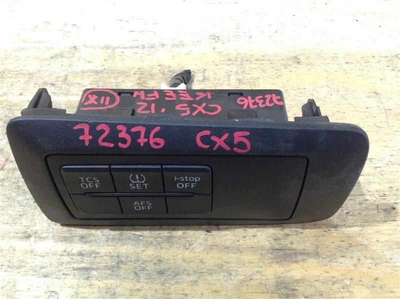 Блок кнопок Mazda Cx-5 KEEFW PE 2012 72376, KD77-55321, K3006 TCS OFF; SET; i-stop OFF; AFS OFF (б/у)