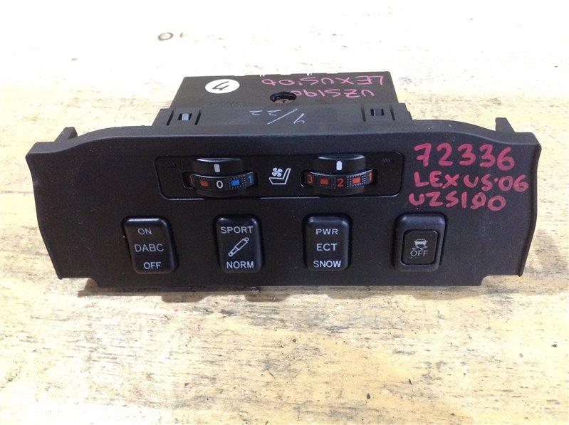 Блок кнопок Lexus Gs430 UZS190 3UZ 2006 72336, 58919-30040 Кнопка включения подогрева сидений, ON (б/у)