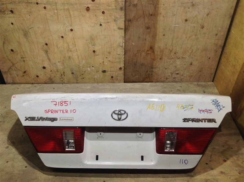 Крышка багажника Toyota Sprinter AE110 71851 (+21.05.20) Без обшивки. Рестайл. 11С.[Т] (б/у)
