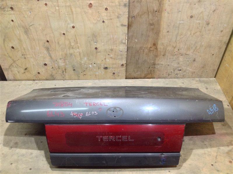 Крышка багажника Toyota Tercel EL41 71854 (+21.05.20) Без обшивки, шильдика TOYOTA. Небольшие (б/у)