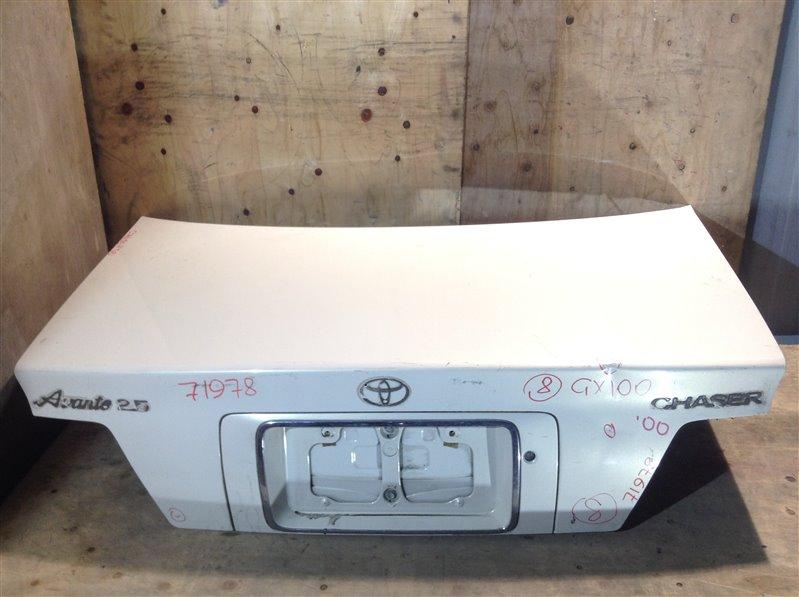 Крышка багажника Toyota Chaser GX100 2000 71978 (+21.05.20) Подмята (см. фото). Без шильдиков. 11С (б/у)