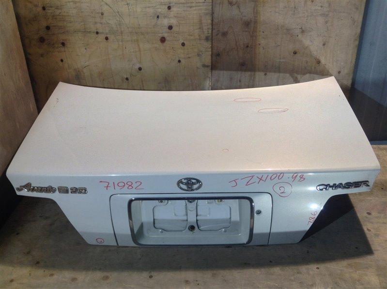 Крышка багажника Toyota Chaser GX100 1998 71982 (+21.05.20) Небольшие вмятины (см. фото). 11С.[Т] (б/у)