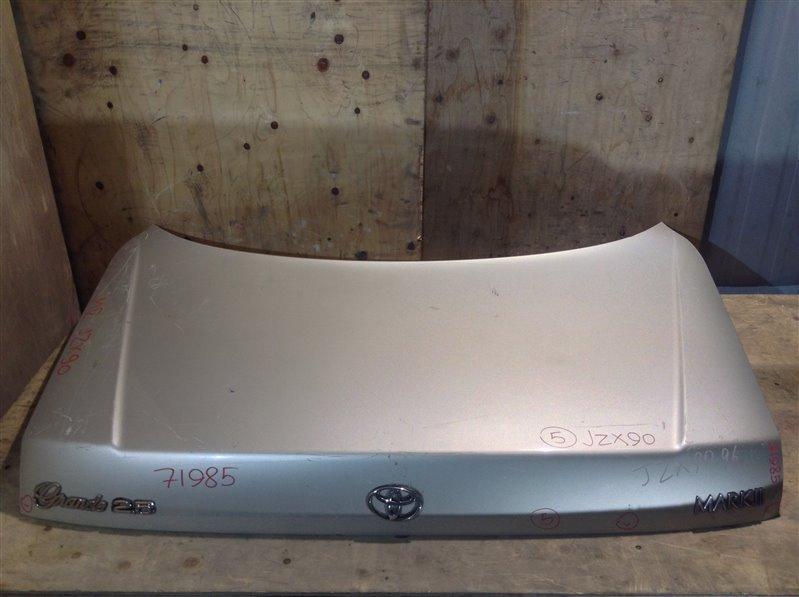 Крышка багажника Toyota Mark Ii GX90 71985 (+21.05.20) Без обшивки, шильдика TOYOTA. Подмята (см. (б/у)