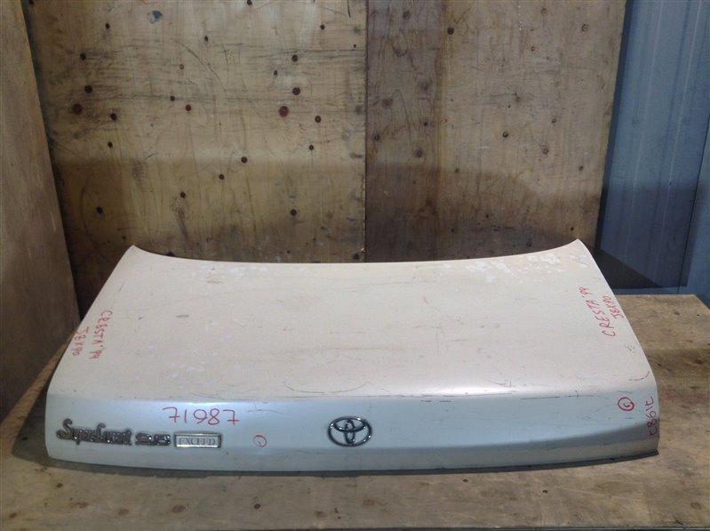 Крышка багажника Toyota Cresta GX90 1994 71987 (+21.05.20) Без обшивки. Небольшие вмятины (см. (б/у)