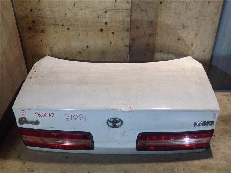 Крышка багажника Toyota Mark Ii GX100 1996 71991 (+21.05.20) Подмята (см. фото). 11С.[Т] (б/у)