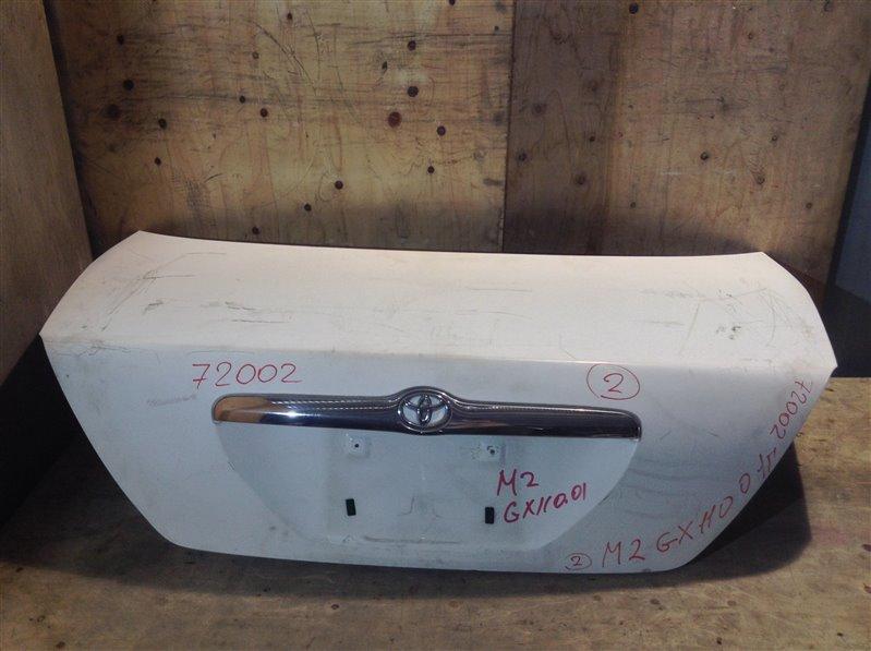 Крышка багажника Toyota Mark Ii GX110 2001 72002 (+21.05.20) Снят замок. 11С.[Т] (б/у)